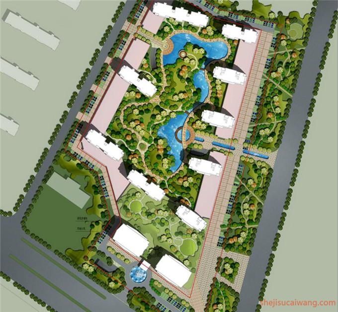 小区规划彩平图PSD4