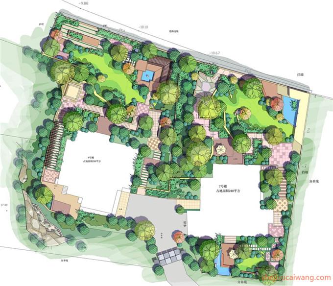 小区规划彩平图PSD5