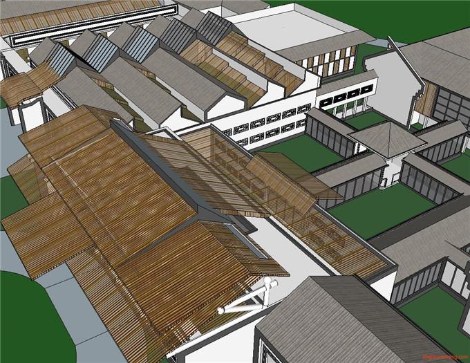 景区规划 SU模型1