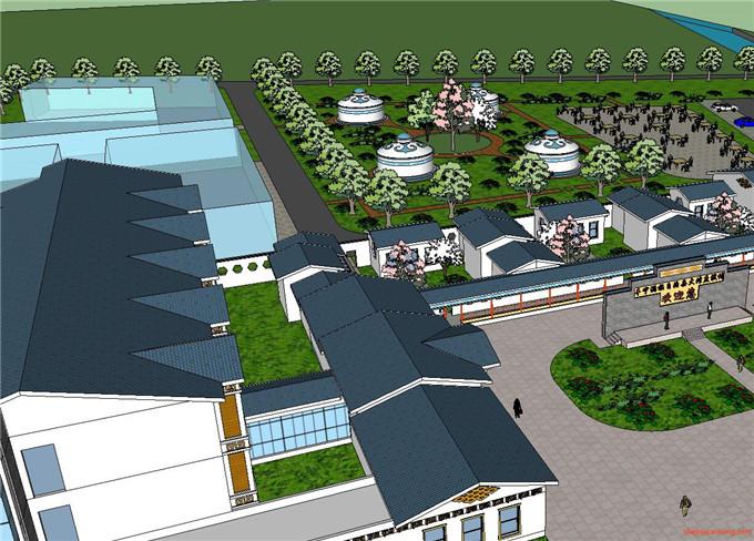 景区规划 SU模型2