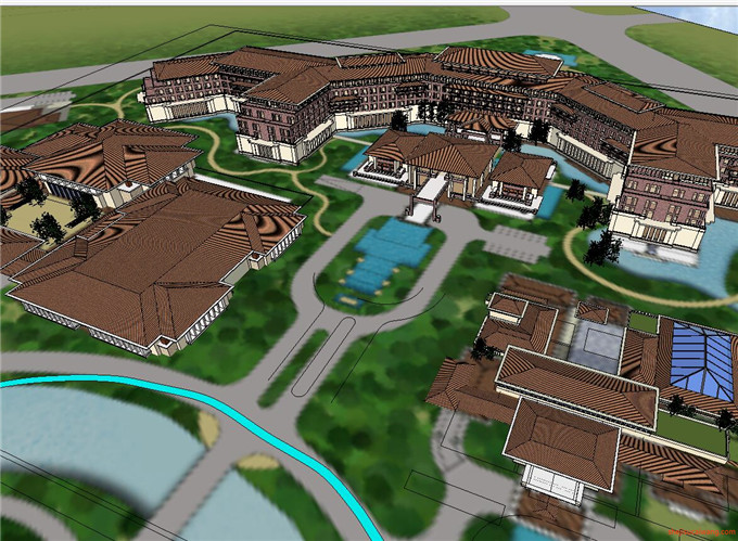 景区规划 SU模型3
