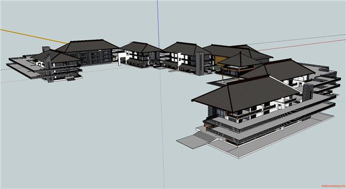 景区规划 SU模型5