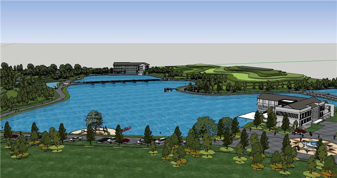 景区规划 SU模型6