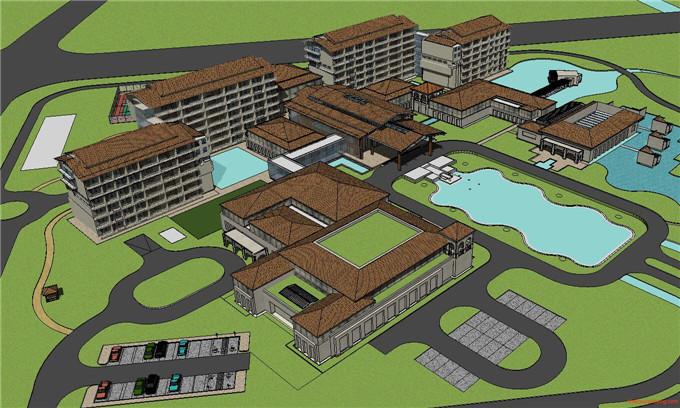 景区规划 SU模型7