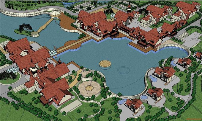 景区规划 SU模型8