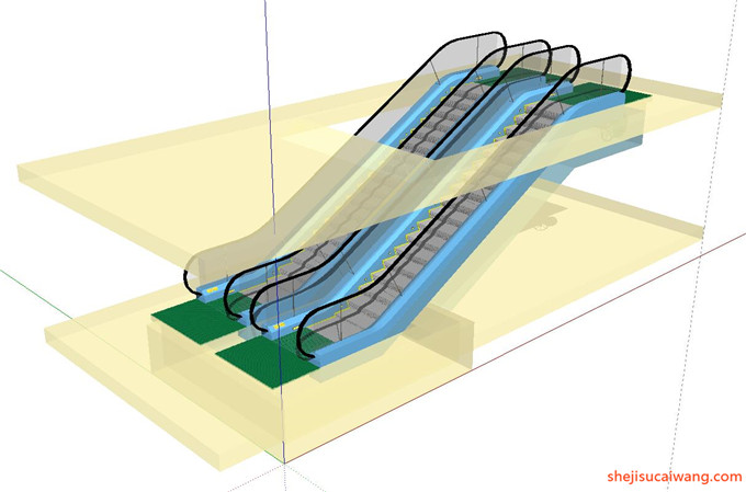 自动扶梯SU模型10
