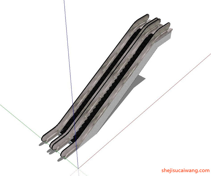 自动扶梯SU模型11