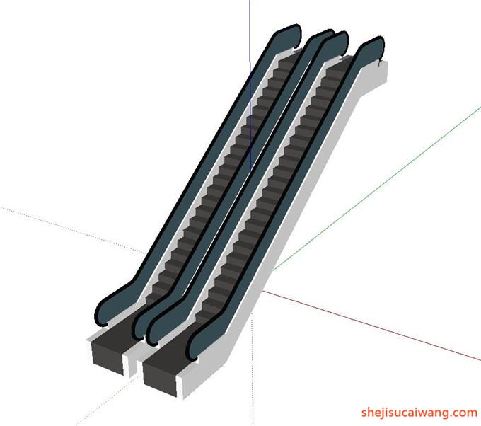 自动扶梯SU模型13