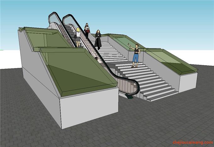 自动扶梯SU模型15