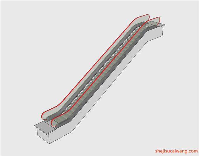 自动扶梯SU模型4