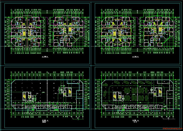 住宅小区CAD户型图平面图3