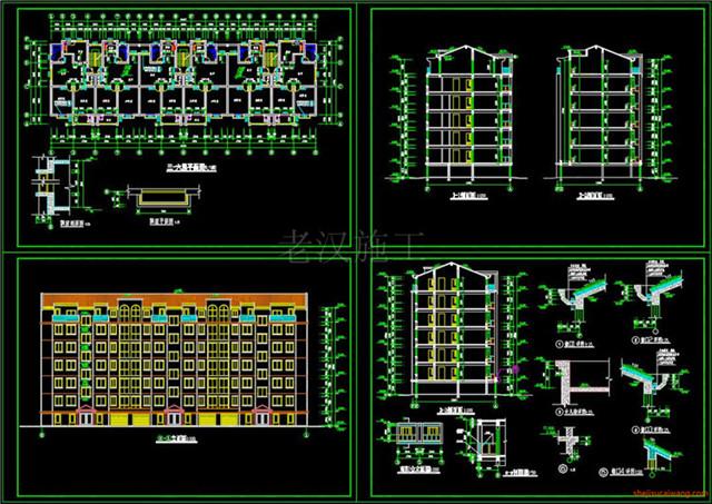 住宅小区CAD户型图平面图4