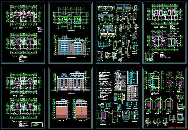 住宅小区CAD户型图平面图7