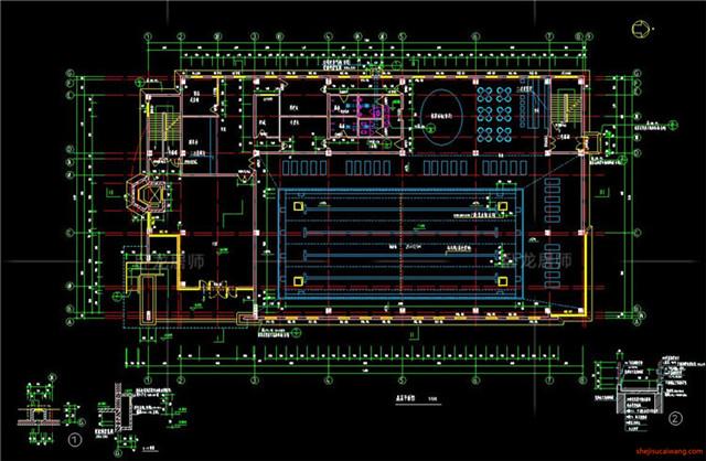 体育馆CAD建筑图1