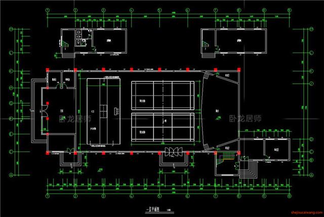 体育馆CAD建筑图2