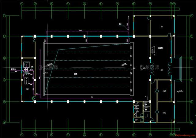 体育馆CAD建筑图3