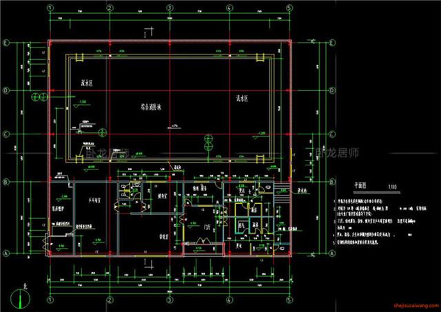 体育馆CAD建筑图4