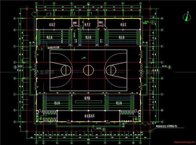 体育馆CAD建筑图5