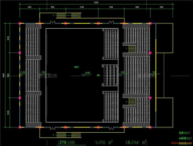 体育馆CAD建筑图6