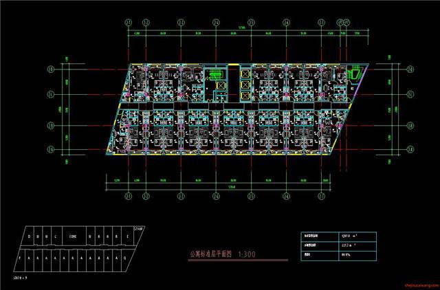 公寓CAD户型图施工图2
