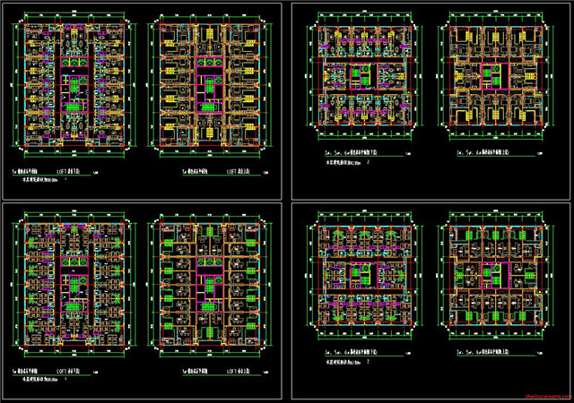 公寓CAD户型图施工图5