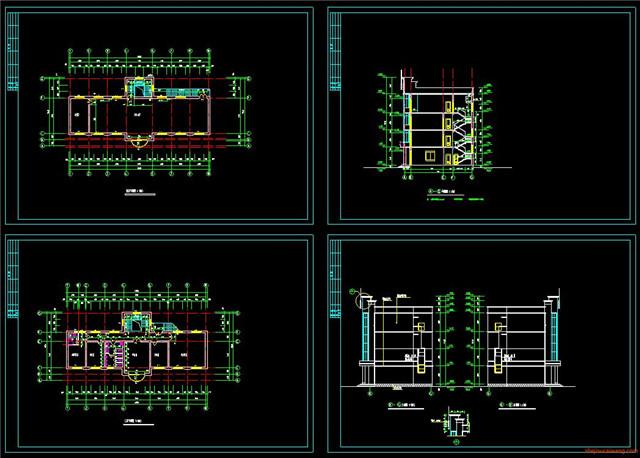 办公楼行政楼CAD施工图1
