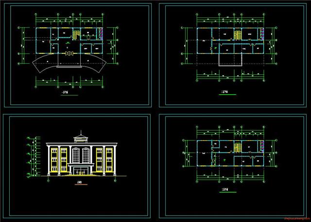 办公楼行政楼CAD施工图2