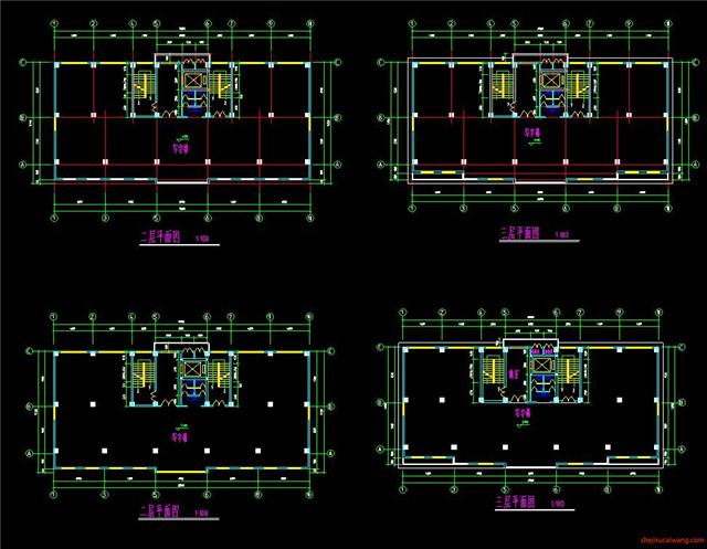 办公楼行政楼CAD施工图3