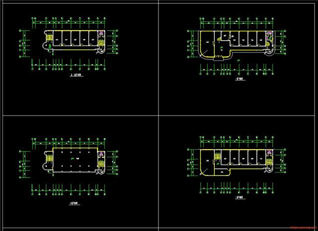 办公楼行政楼CAD施工图4