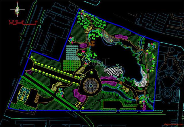 城市公园规划总图CAD1