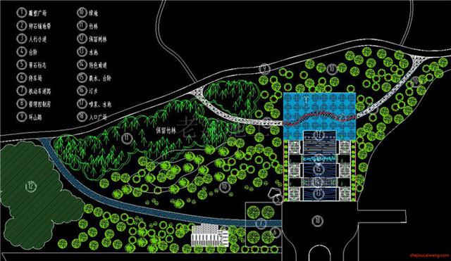 城市公园规划总图CAD3