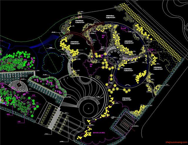 城市公园规划总图CAD5
