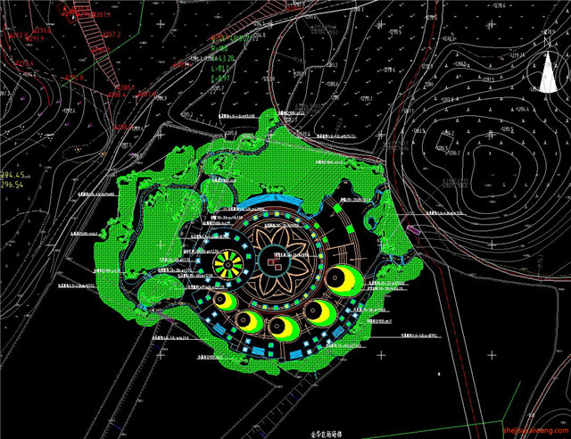 城市公园规划总图CAD6