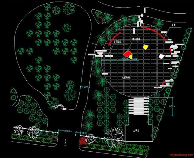 城市公园规划总图CAD7