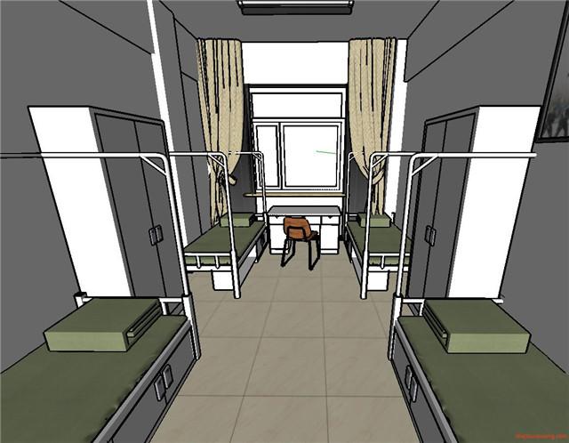 学校学生宿舍楼寝室SU模型4