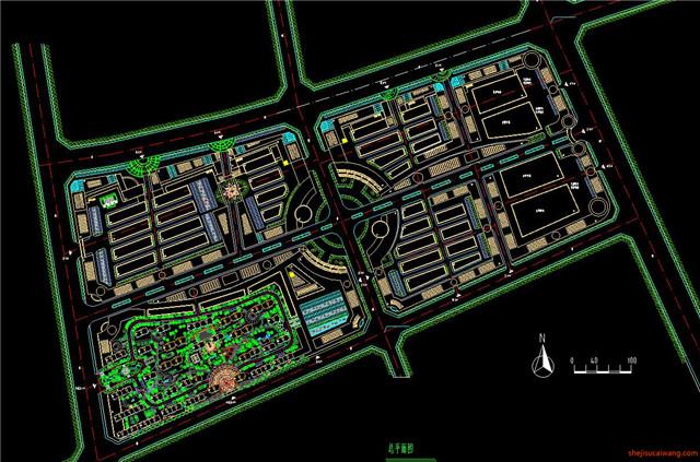 建材市场CAD施工图1