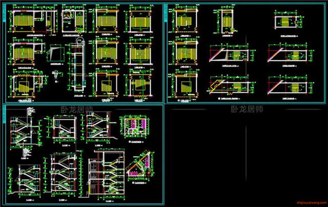楼梯电梯CAD节点详图10
