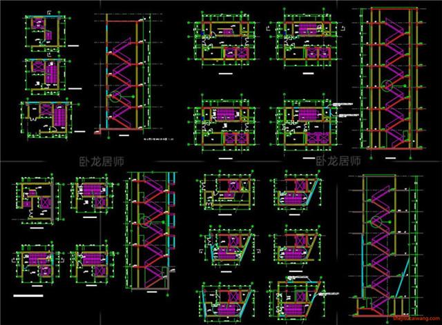 楼梯电梯CAD节点详图6