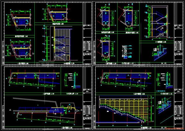 楼梯电梯CAD节点详图7