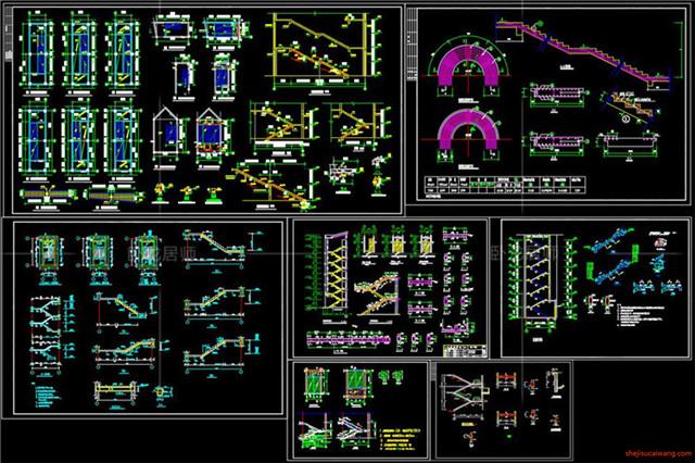 楼梯电梯CAD节点详图9