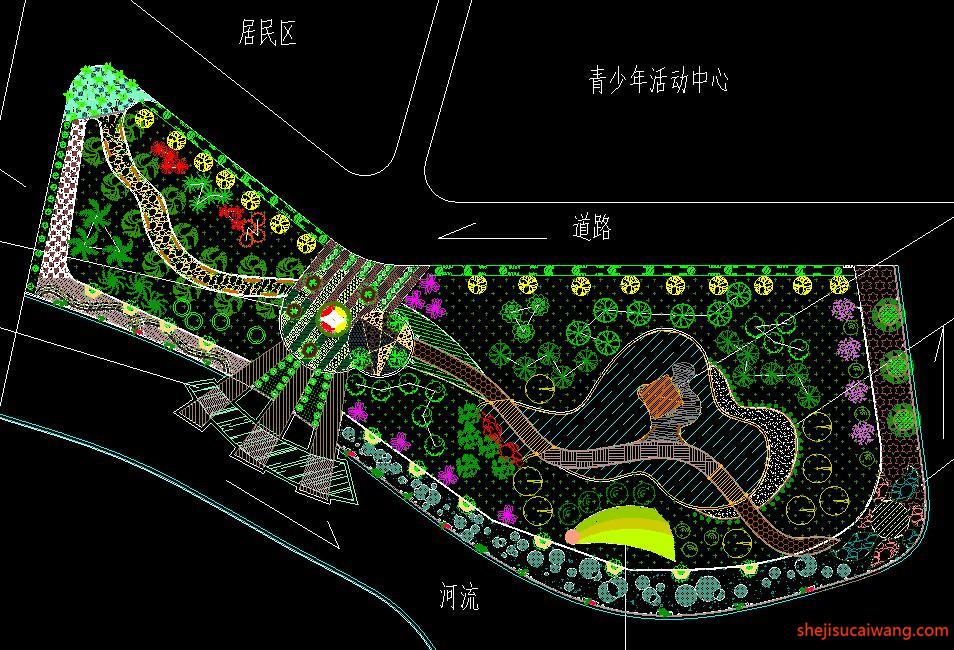 滨水公园总平面CAD5