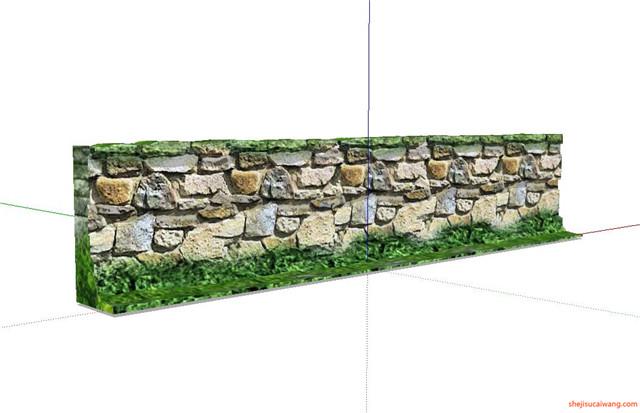 石笼挡土墙SU模型2