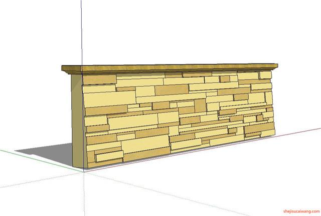 石笼挡土墙SU模型5