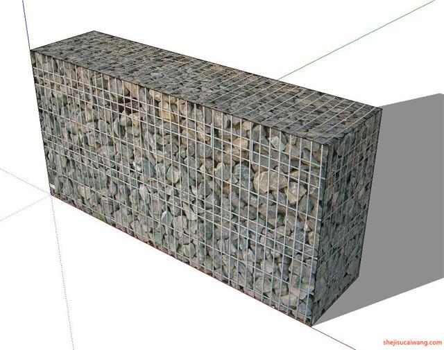 石笼挡土墙SU模型6