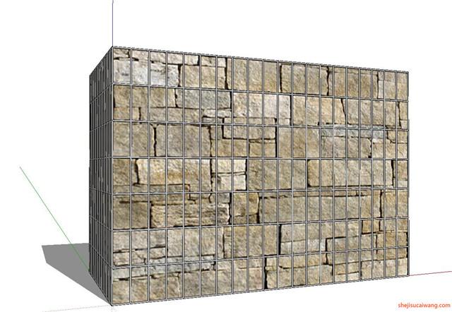 石笼挡土墙SU模型9