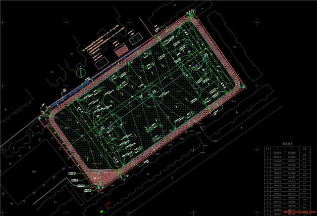 足球场设计CAD施工图1