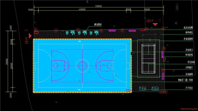 足球场设计CAD施工图4