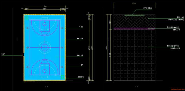 足球场设计CAD施工图5