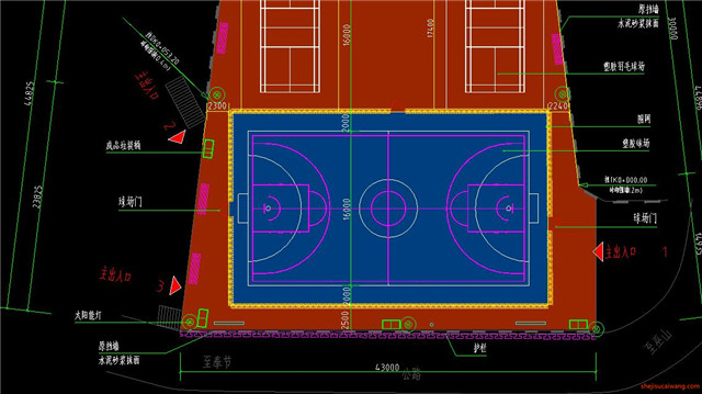 足球场设计CAD施工图6