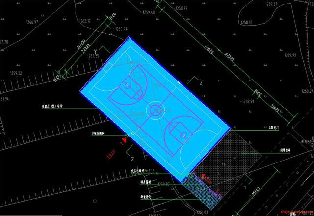 足球场设计CAD施工图7
